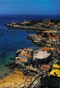 Portugal Albatroz Cascais Foreground Against the Coast Line Cascais Bay Postcard