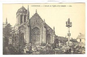 LOCRONAN, L'Abside de l'Eglise et le Calvaire, Finistere, France, 00-10s