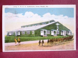 Postcard MD Camp Meade Army YMCA Auditorium