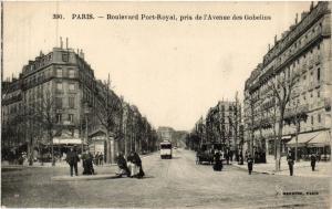 CPA Paris 13e Paris Boulevard Port Royal pris de l'Avenue des Gobelins (311391)