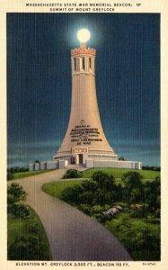 Massachusetts Mt Greylock Massachusetts State War Memorial Beacon Curteich