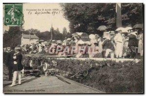 Postcard Old Boat Sailboat Regattas of 9 August 1908
