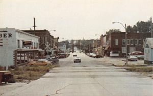 Greene Iowa~Zenith TV Sign Main St~Railroad Crossing~Bridge 1970s Postcard