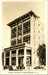 Spartanburg SC Hotel Franklin c1940 Real Photo Postcard