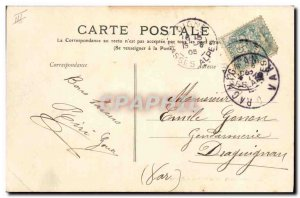 Old Postcard Digne The Bank Theater and Caisse d & # 39Epargne