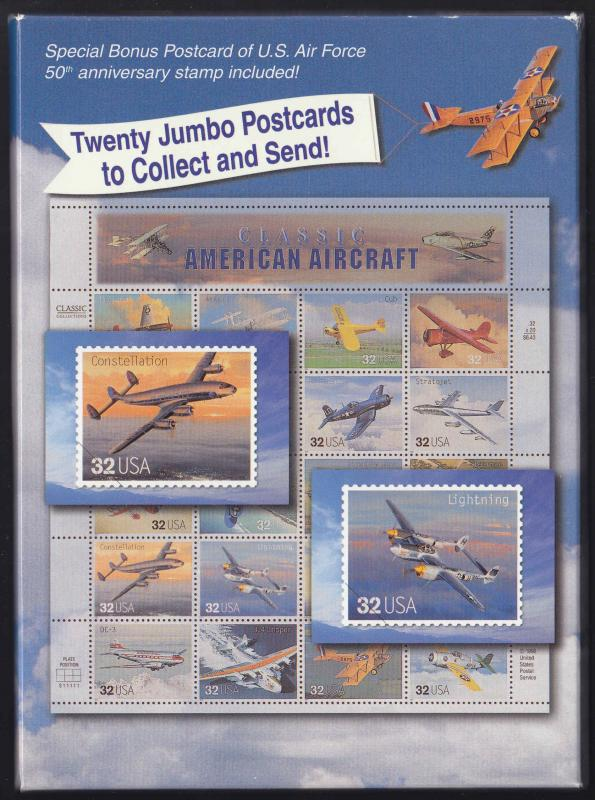 Classic American Aircraft Collection Postcard Set