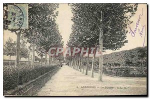 Postcard The Old Asnieres Square
