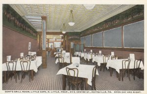 POTTSVILLE , Pennsylvania , 1910s ; Gent's Grill Room