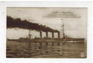 Mint RPPC Postcard Germany Navy Kriegsmarine Cruiser SMS Magdeburg WW 1