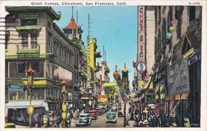 California San Francisco Grant Avenue Chinatown 1936