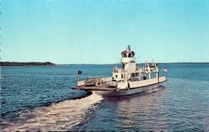 Maine Lincolnville Beach Ferry Governor Muskie On Penobscot Bay