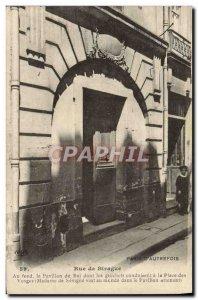 Old Postcard Paris D & # 39Autrefois Rue de Birague Pavilion King