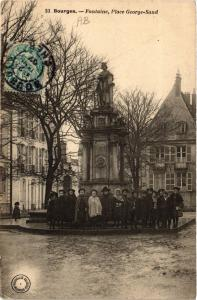 CPA  Bourges - Fontaine - Place George-Sand  (634480)