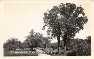 F14/ Minot North Dakota RPPC Postcard c1930s Roosevelt Park 1