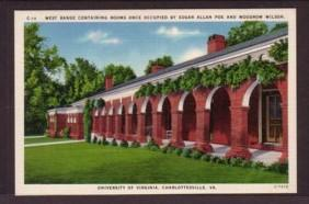 Virginia Post Card Poe Wilson University of Va