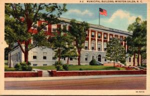 North Carolina Winston Salem Municipal Building 1944 Curteich