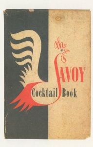 The Savoy Cocktail Book 1952 Edition Peter Gaffin Rare Postcard