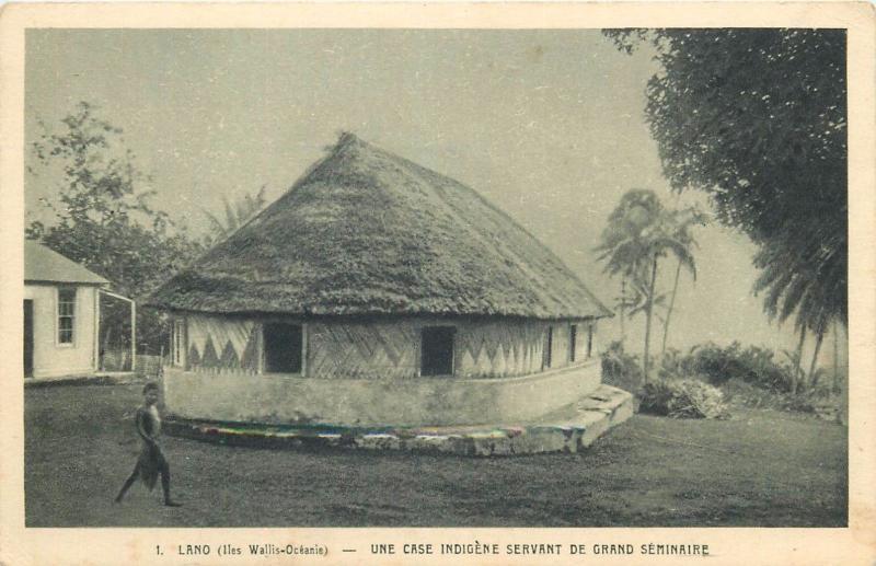 Wallis Pacific Islands LANO native house Oceania
