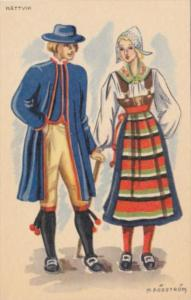 Sweden Rattvik Locals In Traditional Costume