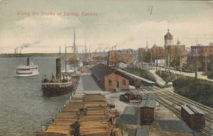 SARNIA , Ontario , 1907 : Along the docks