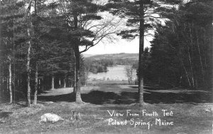 Poland Spring ME View From The Fourth Tee Golf Real Photo Postcard
