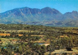 Australia Mount Sonder in the West McDonnell Ranges with the Finke River