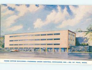 Unused Pre-1980 OLD CARS & FARMERS UNION BUILDING St. Saint Paul MN r8970