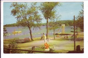 Boats, Water Slide, Miner's Bay Louge, Ontario, Haliburton Highlands