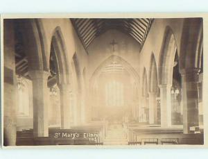 old rppc ST. MARY CHURCH Elland - Calderdale - West Yorkshire England UK HM2171