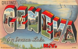 LP73  Geneva  Seneca Lake New York Large Letter postcard Curteich