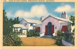 Home of Gary Cooper, Brenwood Height, California, CA, Linen