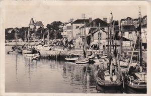 France Pornic Le Port et le Quai vers le Chateau 1948 Photo