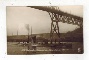 Mint Pre WW2 Germany Navy Real Picture Postcard U Boat 12 Submarine Under Bridge