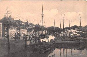 Boat Scene Holland Unused