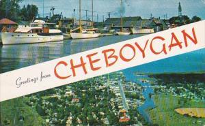 Michigan Greetings From Cheboygan 1955