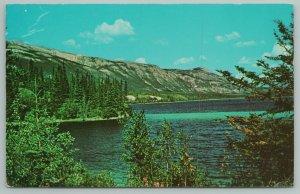 Yukon Alaska~Mile 635 On State Hwy~Mt Range Beyond Watson Lake~Vintage PC
