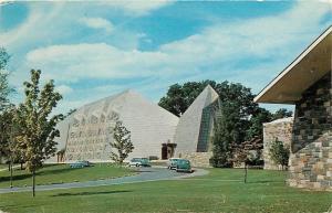 Stamford Connecticut~First Presbyterian Church~1959~NICE 1950s Cars Postcard