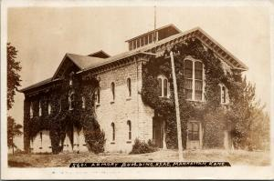 Manhattan Kansas St Agricultural College~KNG Ivy-Covered Armory Bldg~RPPC 1920s