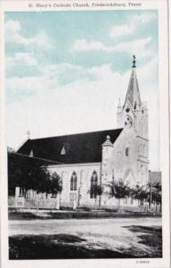 Church St Mary's Catholic Church Fredericksburg Texas Curteich