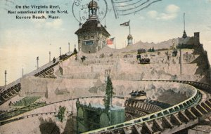REVERE BEACH, Massachusetts, 1914 ; Virginia Reel Ride