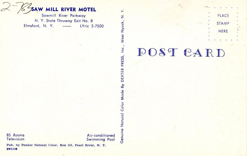 NY - Elmsford. Saw Mill River Motel