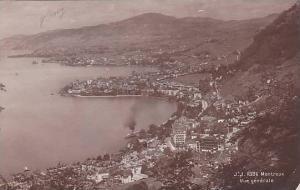 RP; Vue generale of Montreux, Vaud, Switzerland, 00-10s