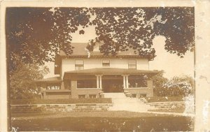 Bloomfield Indiana 1910 RPPC Real Photo Postcard House