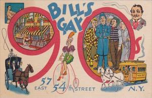New York City Bill's Gay 90's 57 East 54 Th Street 1943