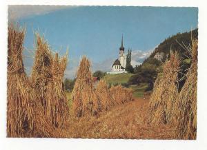 Germany Leiblfing Church Rich Harvest Kirche Vtg Postcard