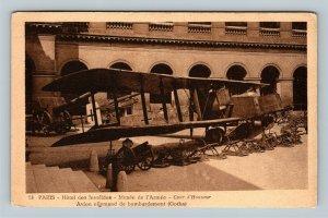 Hotel des Invalides, Bombardement, Paris France, Vintage Postcard