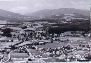VINTAGE POSTCARD AUSTRIAN COUNTRYSIDE B/W REAL PICTURE POSTCARD