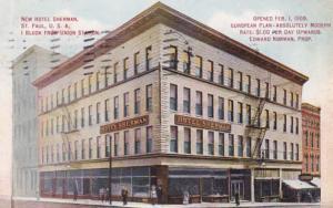 Minnesota St Paul New Hotel Sherman 1911