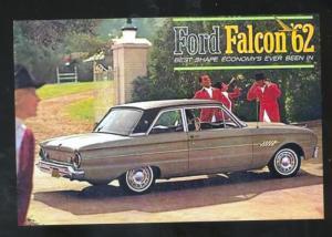 1962 FORD FALCON CAR DEALER ADVERTISING POSTCARD '62 FORD