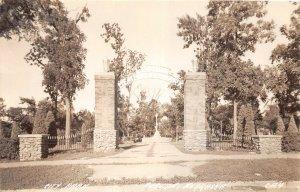 F53/ Auburn Nebraska RPPC Postcard c1940s City Park Gate